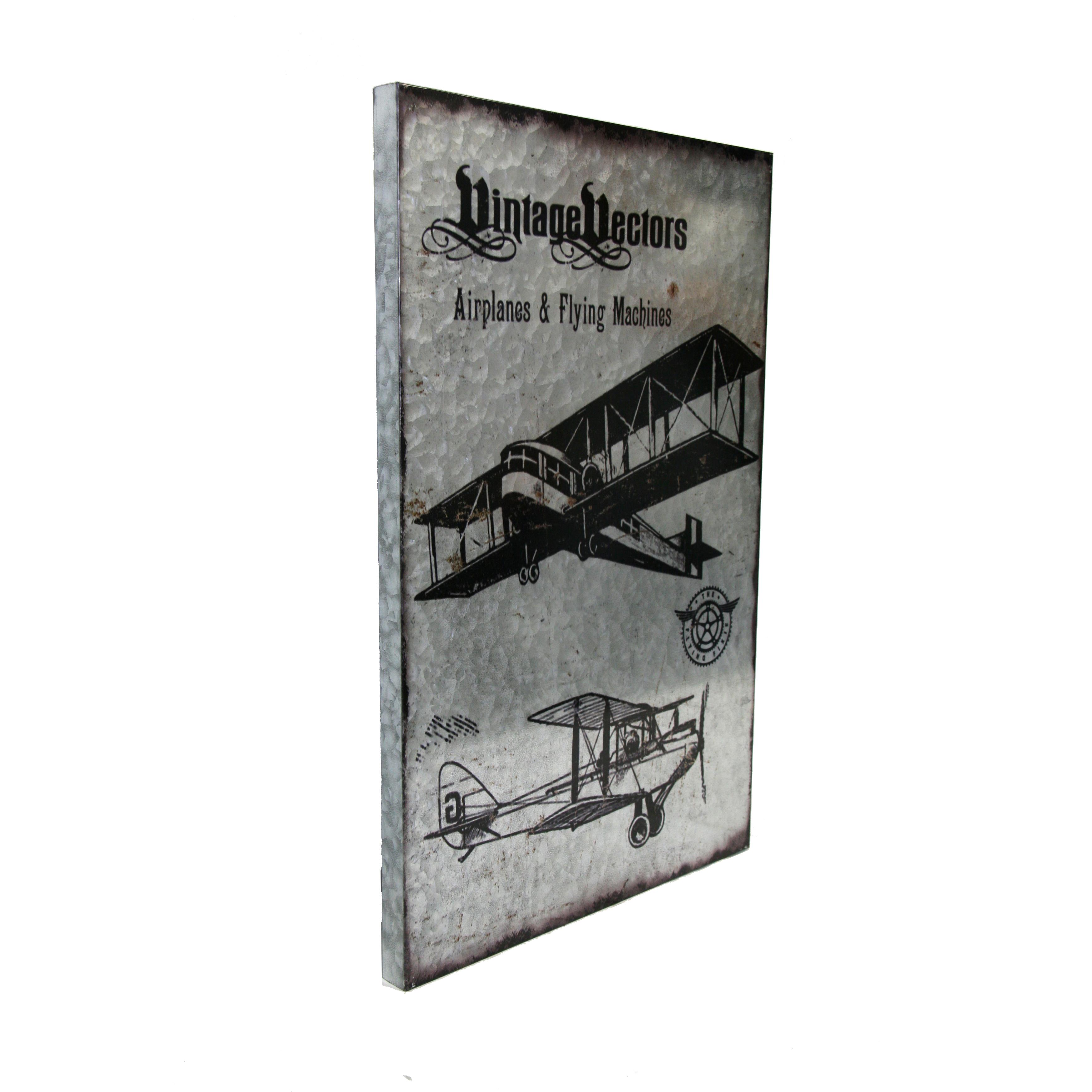 Metal Wall Art Vintage Vector Airplanes Amp Flying