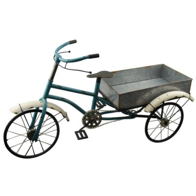 Bike Wagon Metal Planter Box